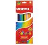 KORES TRIANGULAR színes ceruza, háromszögletű, 12 db/doboz színes ceruza
