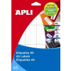 APLI Ékszercímke A5 íven, 45 x 8 mm, eltávolítható, 765 etikett/csomag