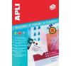 APLI Ültetőkártya, 180 x 125 mm, mikroferforált, 20 db/csomag névkitűző