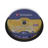 Verbatim DVD+RW 4,7 GB, 4x, újraírható, hengeren (SERL)