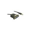 DELOCK 61330 Parallel to USB kábel 0.8m