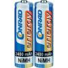 Conrad energy Ceruzaakku 2400mAh NiMh 2 db