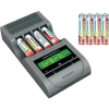 Jubileumi ajánlat, Voltcraft Charge Manager 410 akkutöltő + 4 db NiZn mikro NiZn és 4 db NiZn ceruza akku