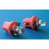 Conrad Eufab LED-es műszerfallámpa, 12V, B8,5d, piros, 1 pár