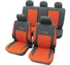 Autós üléshuzat készlet, 11 részes piros ülésbetét, üléshuzat