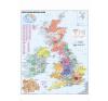 Stiefel Eurocart Kft. Ausztria irányítószámos térképe fóliás-fémléces térkép