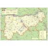 Stiefel Eurocart Kft. Komárom-Esztergom megye térképe, tűzhető, keretes