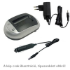 WPOWER Samsung BP-70A, Casio NP-110 akku töltő