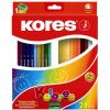 KORES TRIANGULAR színes ceruza, háromszögletű, 24 db/doboz