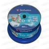 Verbatim CD-R 52x Fullface Printable NO ID Cake (50) /43438/
