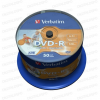 Verbatim DVD-R 16x Full Printable NO ID Cake (50) /43533/