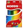 KORES HEXAGONAL színes ceruza, hatszögletű, 36 db/doboz