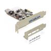 DELOCK DeLock PCI-e Bővítíkártya 3x külső + 1x belső USB 3.0 port
