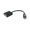 4world Adapter DisplayPort [M] > DVI-I (24+5) [F]  fekete