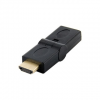 4world Adapter HDMI [M] > HDMI [F]  angled 180°  fekete