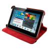 4world Galaxy Tab 2 műbőr tok-állvány  Rotary  7\'\'  piros