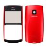 Nokia X2-01 előlap és akkufedél piros