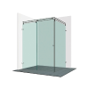 Varioglass Vendum V21-es tolóajtós zuhanykabin 120x90x200 cm
