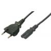 LogiLink Power Cord, Euro-Euro8,black, 1.80m