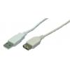 LogiLink USB Cable,USB 2.0, male/female, grey,2m