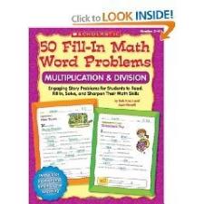 50 Fill-In Math Word Problems Gr 2-4 nyelvkönyv, szótár