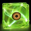 Revoltec 80x80x25 Green Led RL044