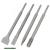 betonvéső klt. 4db, SDS PLUS; 250mm hosszú, hegyes, lapos 25mm, lapos 45mm, horony