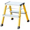 KRAUSE Monto Rolly gurítható lépcsőfokos fellépő 2x2 fokos sárga           130044
