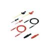 SKS HIRSCHMANN PMS 2600 CAT III 1000V-ig szigetelt 100cm hosszú többfunkciós fekete-piros mérőfej szett, mérőkábel készlet, mérőzsinór szett