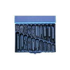 Húzórugó készlet, acéllemez kofferben, 350 részes barkácsolás, csiszolás, rögzítés