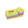 3M/POSTIT Öntapadó jegyzettömb, 38x51 mm, 3M POSTIT, energikus színek
