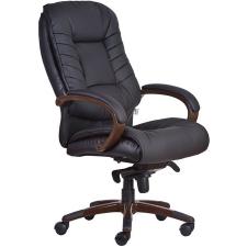 Főnöki szék, műbőrborítás, fekete lábkereszt,