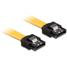 DELOCK cable SATA 50cm straight/straight metal yellow kábel és adapter