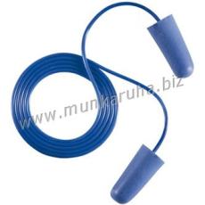 Earline® Earline kék, zsinóros, lekerekített hengeres füldugó beépített fémgolyóval (SNR 37dB)