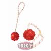 Trixie zsinóros tappancsos gumi labda vegyes színek 8 cm (TRX33482)