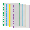 DONAU Genotherm, lefűzhető, színes szélű, A4, 40 mikron, narancsos felület, DONAU, zöld