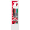 ICO Alkoholos marker készlet, OHP, 0,3 mm, S, ICO, 4 különböző szín