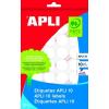 APLI Etikett, 13 mm kör, kézzel írható, APLI, 770 etikett/csomag