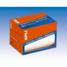 APLI Etikett, 25 mm kör, kézzel írható, tekercsben, APLI, 2400 etikett/csomag etikett
