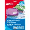 APLI Etikett, 63,5x38,1 mm, fagyasztható, kerekített sarkú, APLI, 210 etikett/csomag
