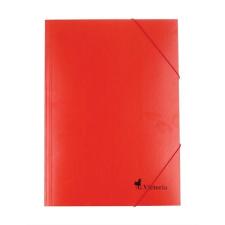 VICTORIA Gumis mappa, karton, A4, VICTORIA, piros mappa