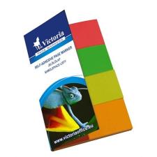 VICTORIA Jelölőcímke, papír, 4x50 lap, 20x50 mm, VICTORIA, vegyes szín post-it