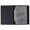 PANTA PLAST Névjegytartó, 120 db-os, gyűrűs, PANTAPLAST, fekete