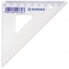 DONAU Háromszög vonalzó, műanyag, 45°, 8,5 cm, DONAU