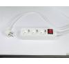 Elosztósor, 3 csatlakozóaljzat, 1,5 m kábelhosszúság, kapcsolóval hosszabbító, elosztó