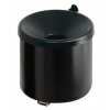 VEPA BINS Fali hamutartó, alumínium, henger alakú, VEPA BINS, fekete