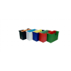 DONAU Függőmappa tároló, műanyag, 5 db függőmappával, DONAU, piros