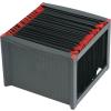 HELIT Függőmappa tároló, műanyag, HELIT, fekete-piros