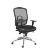 Főnöki szék, szövetborítás, hálós háttámla,