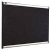 NOBO Habtábla, tűzhető, fekete, 90x120 cm, alumínium/műanyag keret, NOBO